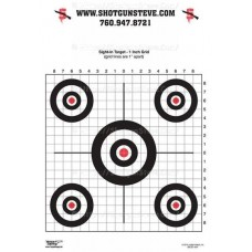 B11 5-Bull Sight-In Target with Grid, package of 10