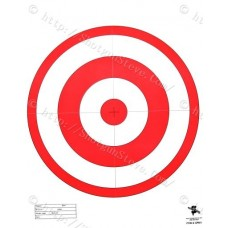 "16"" Orange Bullseye Target, Package of 10"