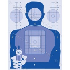 Blue Precision Shooting Target, Package of 10