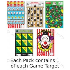 Variety of Game Targets, Package of 5