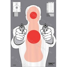 Red Center of Mass Badman Silhouette target, package of 10