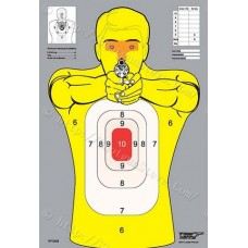 Yellow Badman Silhouette Target, package of 10